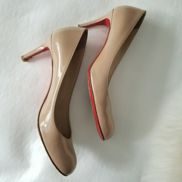 best authentic 7191a bf870 Authentic Christian Louboutin simple pump 70mm